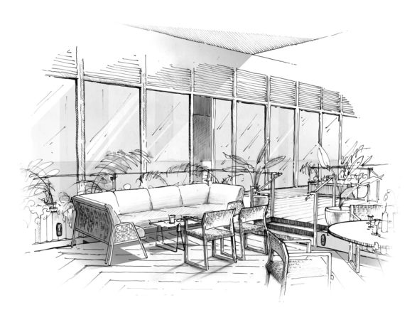 Illustration Dc Mah Sketch View